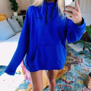 blue nike cowl-neck pullover